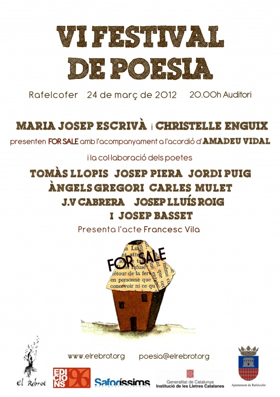 'For sale' al VI Festival de Poesia de Rafelcofer
