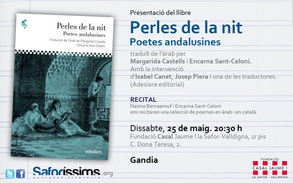 Presentació del llibre Perles de la nit. Poetes andalusines (Adesiara editorial)