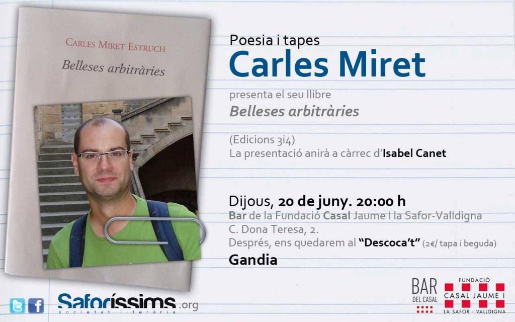 Poesia i tapes, amb Carles Miret
