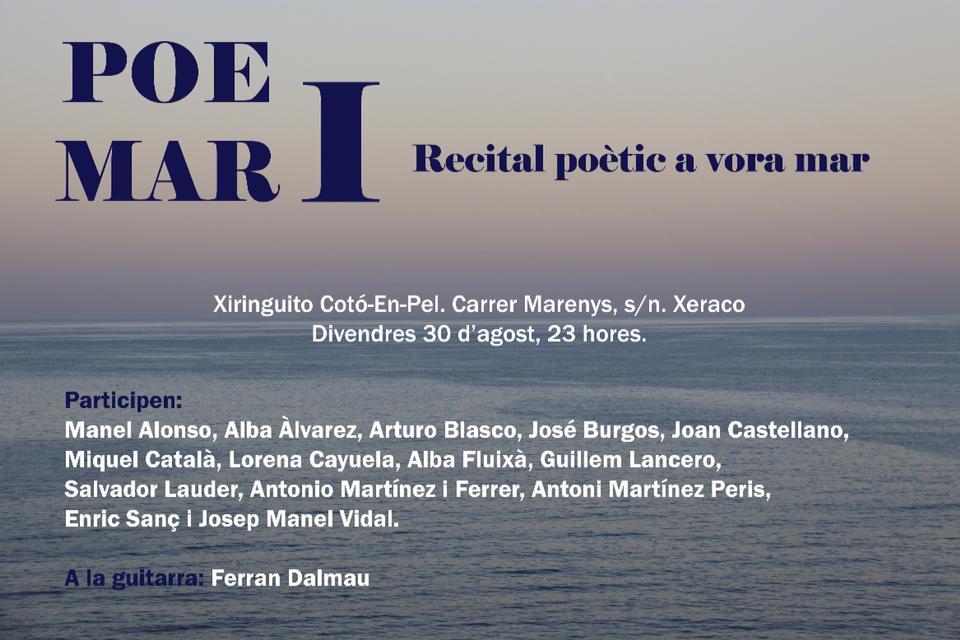 'Poemar', recital poètic a vora mar (Xeraco)