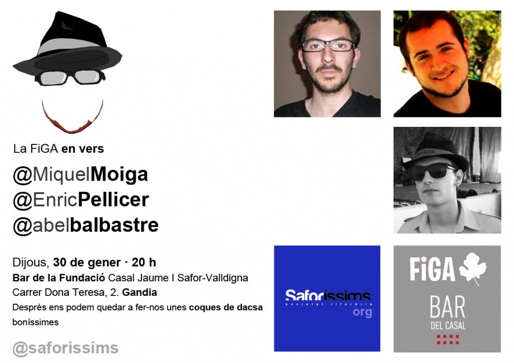 Miguel Moiga, Enric Pellicer i Abel Balbastre, a 'la FiGA en vers'