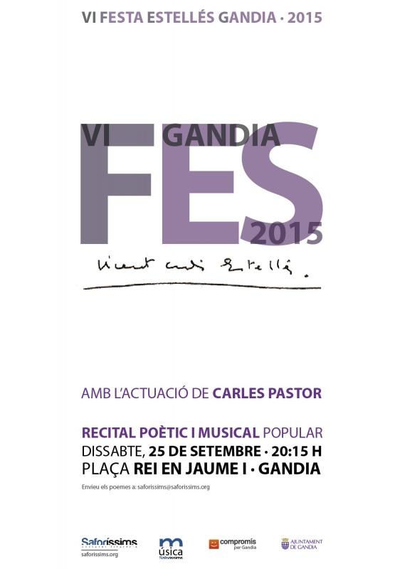 La 6a Festa Estellés de Gandia, el 25 de setembre