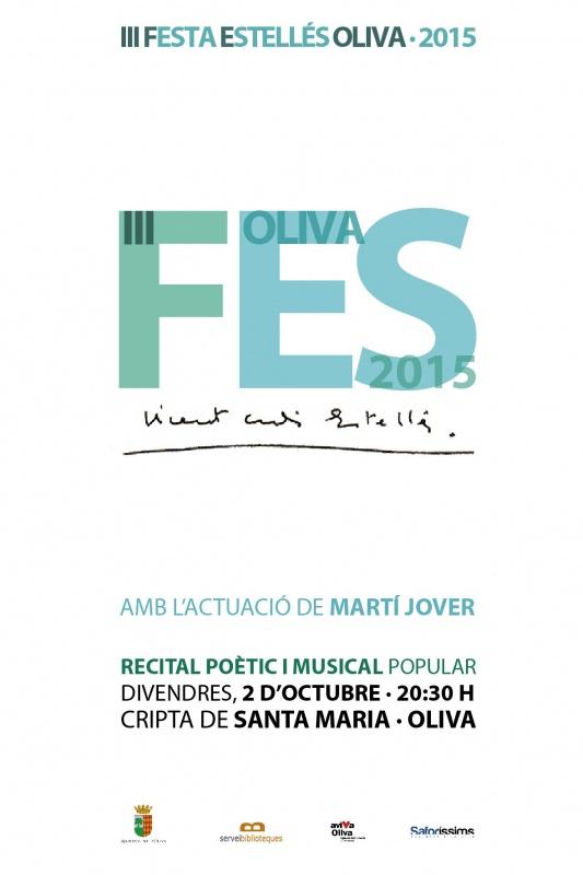 Oliva organitza la III Festa Estellés a la Cripta de Santa Maria