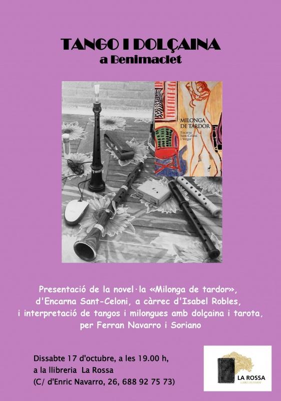 """Encarna Sant-Celoni presenta la novel·la """"Milonga de tardor"""" a Benimaclet, aquest dissabte"""