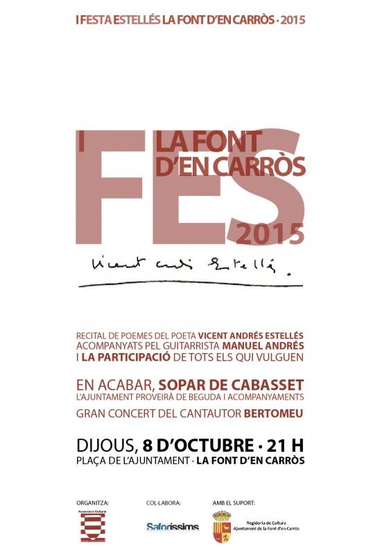 Arriba la primera edició de la Festa Estellés a la Font d'en Carròs
