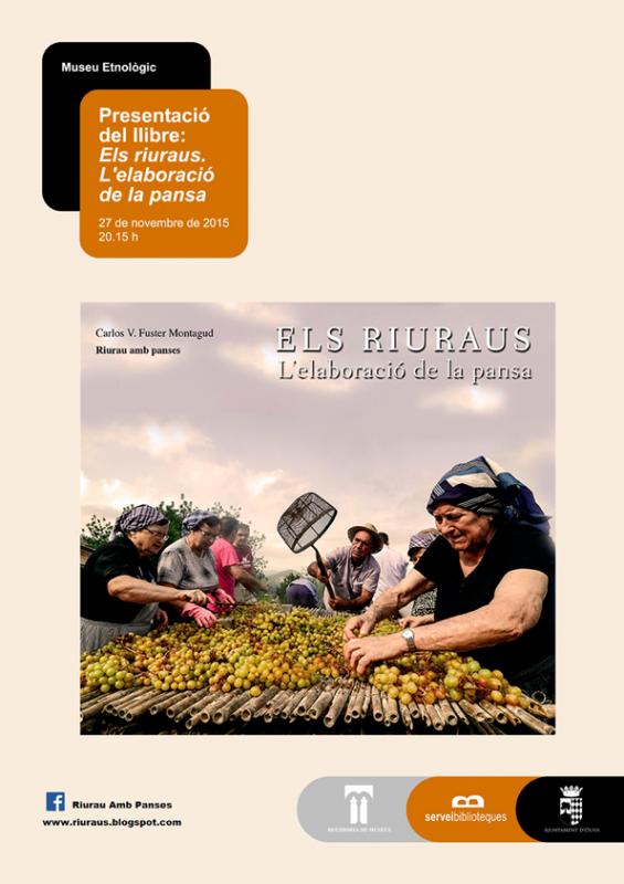 Divendres 27 de novembre, cultura tradicional a Oliva i Potries: un llibre sobre els riuraus i una novel·la amb la pilota valenciana de protagonista