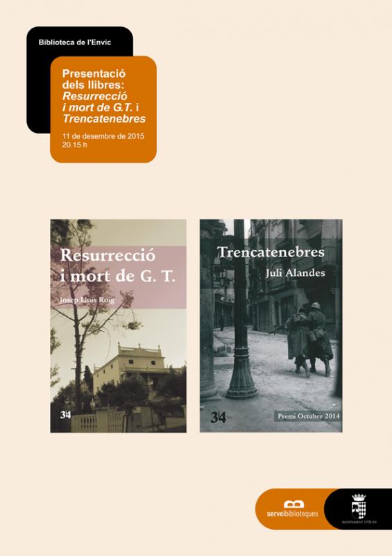 Josep Lluís Roig i Juli Alandes presenten les seues novel·les a Oliva