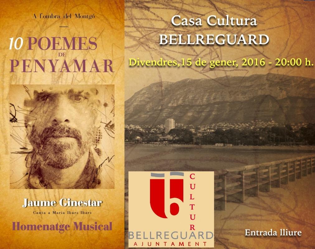 """Jaume Ginestar presenta el disc """"Deu poemes de Penyamar"""", sobre la poeta Maria Ibars"""