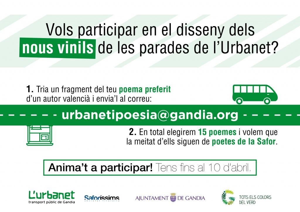 La poesia i la prosa pugen a l'Urbanet: participa-hi!!!