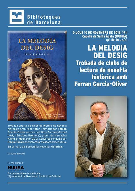 Ferran Garcia-Oliver, en una trobada de clubs de lectura a Barcelona