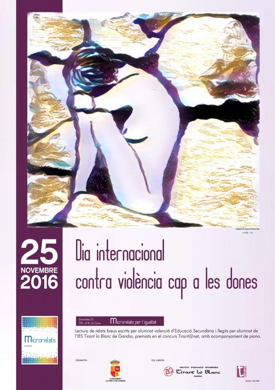 Lectura de microrelats per la igualtat de gènere (La Font d'en Carròs, divendres, 25 de novembre, 20h)