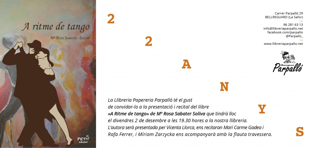 M. Rosa Sabater Soliva presenta «A ritme de tango» a Bellreguard