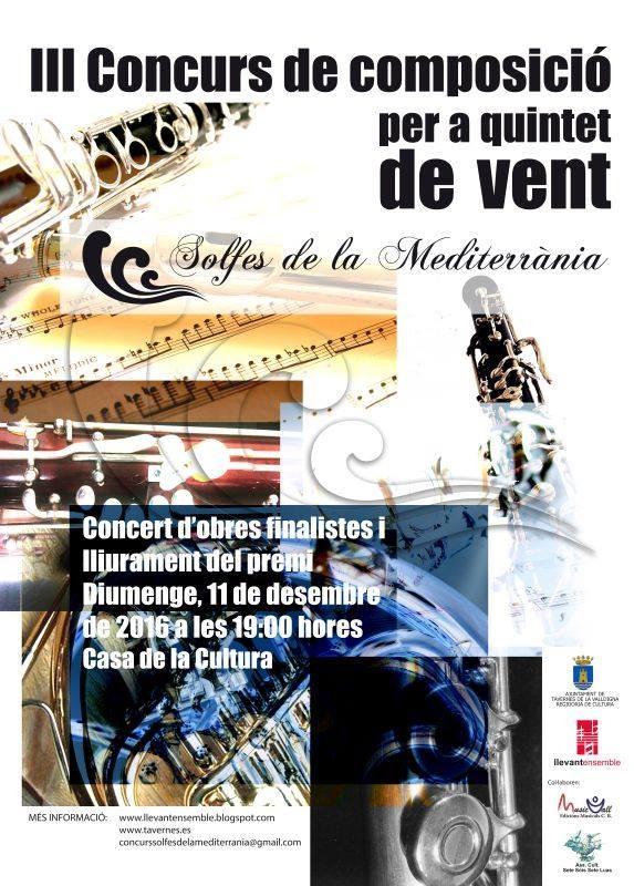 Serena Barca de Maria Josep Escrivà amb la Llevant Ensemble i Maria Tamarit (Casa de la Cultura de Tavernes de la Valldigna, 11 de desembre, 19.00 h)