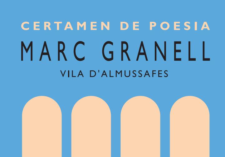 Bases Premi de Poesia Marc Granell Vila d'Almussafes