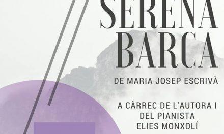 """Recital poètic i musical a partir de """"Serena barca"""", de Maria Josep Escrivà (Casa Museu Segrelles, Albaida, 11 de març, 19.00 h)"""