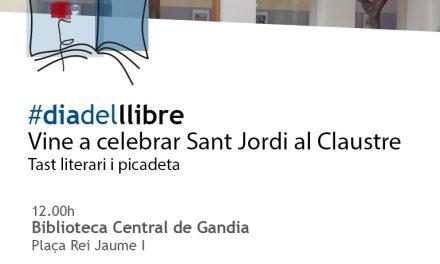 Vine al Claustre per Sant Jordi