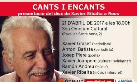 Josep Piera participa a Reus en la presentació del nou disc de Xavier Ribalta (21 d'abril de 2017, a les 18.00 h, a la seu d'Òmnium Cultural)