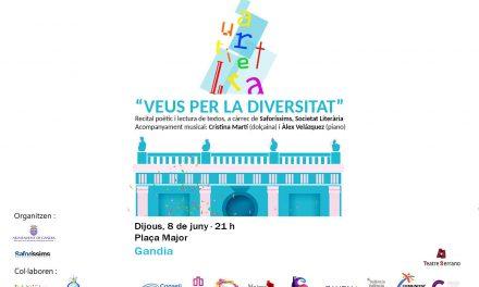 """""""Veus per la Diversitat"""", al II Orgull Gandia, del 5 al 10 de juny"""