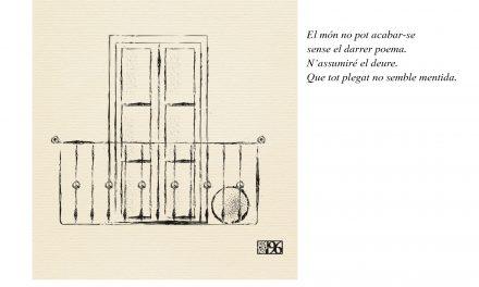Presentem a Oliva el llibre de poemes de Vicent Olaso, 'Que tot plegat no semble mentida' (dijous 14 de desembre, Llibreria La Fona, 19 h)