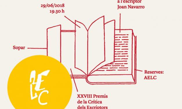 Els XXVIII Premis de la Crítica dels Escriptors Valencians homenatgen Joan Navarro
