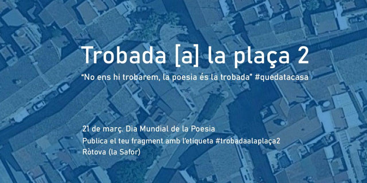 """Saforíssims col·labora en l'edició virtual de la """"Trobada [a] la plaça"""", amb motiu del Dia Mundial de la Poesia"""
