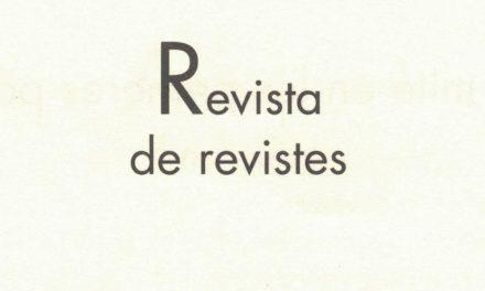 Revista de revistes; sobre les revistes Poetry Spam, Núvol, Caplletra i Bon dia!